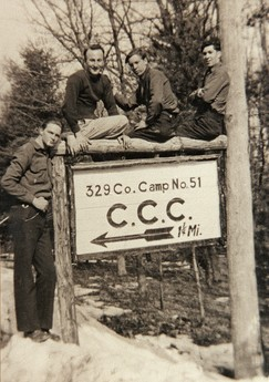 ccc camp sign picture from cchs display ccc boys from the pine grove