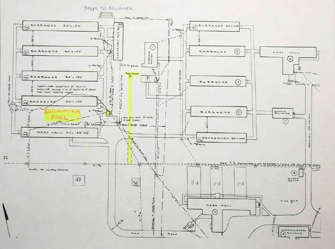 Camp Michaux Farm Ccc Pow And Church Rough In Plumbing Diagram Under Sink Rwitherspoon Map Showing The Fence Location