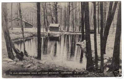 ye old swimming hole at camp michaux r d gardners